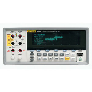 Fluke 8846a c 120v 25ppm 6 5 Digit Precision Digital Bench Multimeter