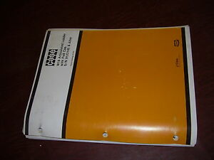 Case W18 18 Articulated Wheel Loader Parts Catalog S n 9123140 After