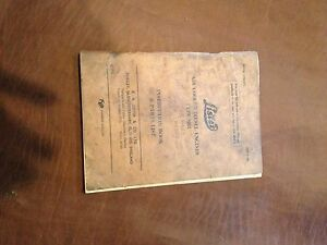 Lister Disel Engine Sr4 Parts Operation Instructions Manual