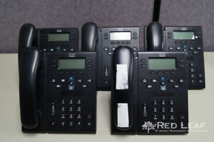 lot Of 5 Cisco Cp 6941 c k9 Voip Phone used