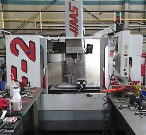 Haas Vf 2 Cnc Vertical Machining Center 20 Hp Vector Drive Chip Auger Coolant