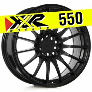 Xxr 550 17x8 25 5x100 5x114 3 19 Flat Black Wheels Set Of 4