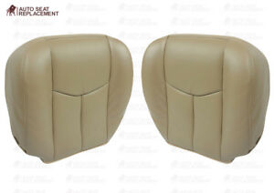 2003 2004 2005 2006 Chevy Avalanche Driver And Passenger Bottom Seat Cover Tan