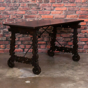 Antique Spanish Table Writing Desk