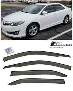 Jdm Tape On Style Smoke Tinted Side Vents Sun Shade Guard For 12 14 Toyota Camry