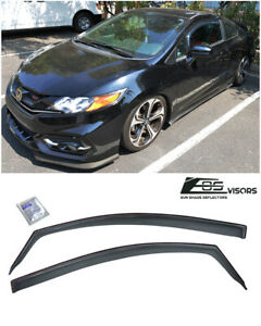 Jdm In Channel Smoke Tinted Sun Shade Rain Guards For 12 15 Honda Civic Coupe