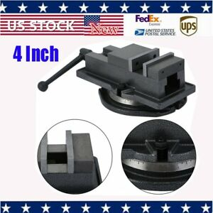 4 Vise Milling Machine Lockdown Vise With Swivel Base Hardened Metal