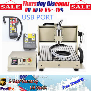 Diy Drill Mill Machine 4 Axis 1500w Cnc 6040 Router Engraver Spindle 3d Xyz Usps