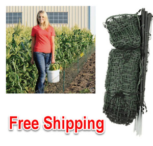 High Quality Electric Garden Net Fence Plant Netting Green Black 20 Tall 120