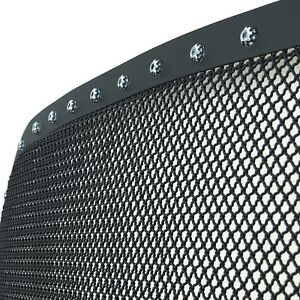 For 2010 2012 Dodge Ram 2500 Rivet Wire Mesh Grille Insert Black Stainless Steel