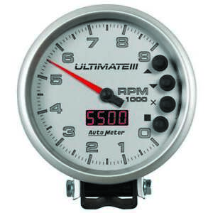 Auto Meter Ultimate Iii Playback Tach 9k Silver