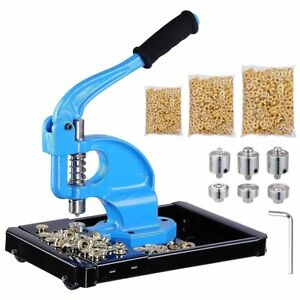 Yescom 3 Dies 0 2 4 Hand Press Grommet Machine With 900 Pcs Golden Gromm
