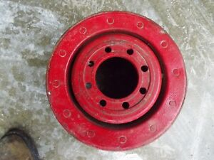 Farmall Super M Mta 400 450 350 Tractor Original Ih Paper Belt Pulley Real Nice