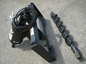 John Deere Skid Steer Attachment Lowe Bp210 Hex Auger With 6 Bit Ship 199