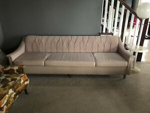 Vintage Mid Century Modern Sofa Couch