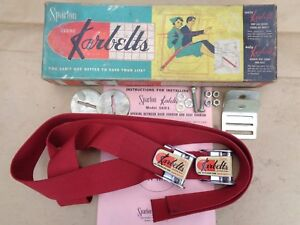 Nos 1950s Karbelts Seat Belts Original Vintage Accessory Ford Mercury Chevy Nash