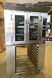 Doyon Convection Oven Ca6 With Stand Plus 12 Full size Baking Pans