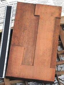 12 48 Giant Letter L Rare Unused Wood Type Letterpress Printing Block Woodtype