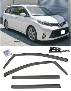 Jdm In Channel Style Side Vents Sun Shade Rain Visors For 11 20 Toyota Sienna