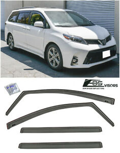 Jdm In Channel Style Side Vents Sun Shade Rain Visors For 11 Up Toyota Sienna