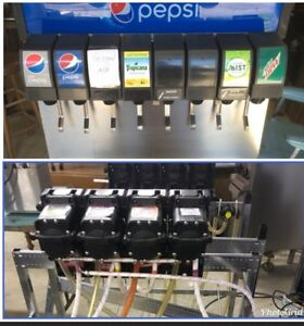 Mccann 8 Head Soda Pop Fountain Machine Dispenser Ice Bin Pumps Carbonator Rack