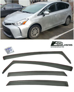 Jdm Smoke Tinted Side Vents Sun Shade Window Visors For 11 18 Toyota Prius V