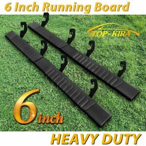 For 07 18 Silverado Gmc Crew Cab 6 Inch Running Board Nerf Bar Side Step Blk H