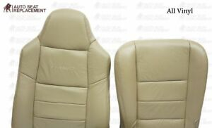 2002 To 2007 Ford F250 F350 Lariat Driver Bottom top backrest Seat Cover Tan