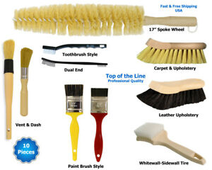 Auto Detailing Brush Kit For Car Interior Exterior Detail Jobs
