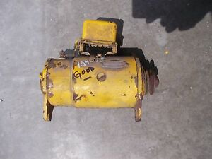 International 154 Cub Low Boy Tractor Working 12v Generator Belt Drive Pulle