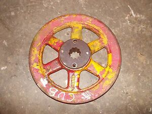 Farmall Cub Cub Low Boy Tractor Ih Woods Mower Deck Main Pto Belt Drive Pulley
