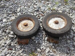 International Farmall Cub Tractor Mower Deck Solid Guide Wheel Wheels