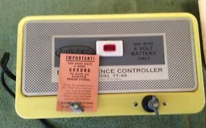 Vtg Nos 1972 Hol Dem Yellow Electric Fence Controller Model Tt 68