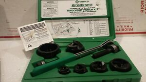 Greenlee 7238sb Slug buster Knockout Punch Kit With Ratchet Wrench