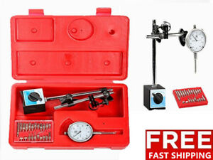 New Dial Indicator Magnetic Base Point Precision Inspection Set Us Stock Vp