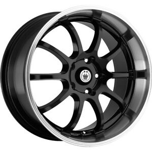 1 New 16x7 Konig 26mb Lightning Black Wheel Rim 40 5x100 5x4 50
