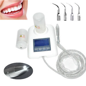 Lcd Dental Ultrasonic Piezo Scaler Cavitron led Fiber Optic Handpiece 2 Bottles