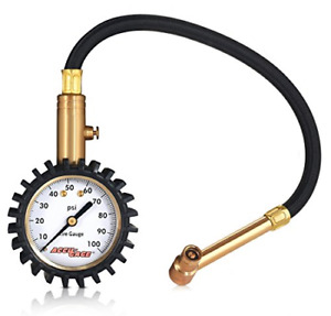 Accu Gage H100x Professional Tire Pressure Gauge With Protective Rubber Guard