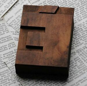 Letter Rare Wide Wood Type 3 54 Woodtype Font Letterpress Printing Block