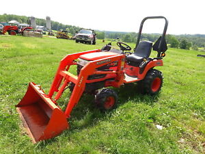 Kubota Bx2230 Compact Tractor Loader Runs Mint Low Hrs 4x4 4wd Diesel Pto