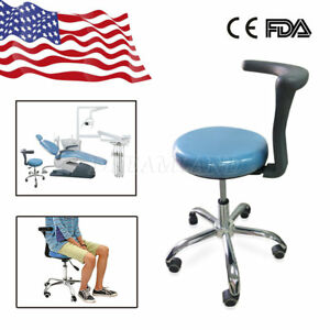 Usa Mobile Stools Medical Chair Pu Leather For Clinic Dentist Use Skyblue Color