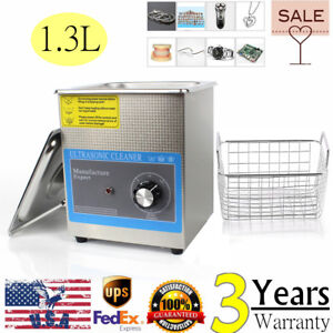 1 3l Ultrasonic Cleaner Jewelry Watches Eyeglass Cleaning Machine 110v 60w Usa