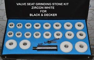 Black Decker Valve Seat Grinder Stones Holder Kit Finishing Cut
