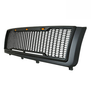11 14 Chevy Silverado Heavy Duty Black Abs Packaged Upper Grille Led Grill