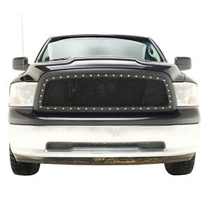 2009 2012 Dodge Ram 1500 Grille Rivet Wire Mesh Replacement Abs Black Grill