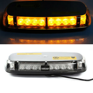 Carchet Car Emergency Beacon Light Bar Strobe Flashing Warning Lamp Amber Dc12v