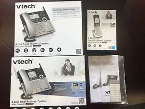 V tech 4 Line Business System Main Console Cm18445 Desk Cm18245 Portable Cm18045