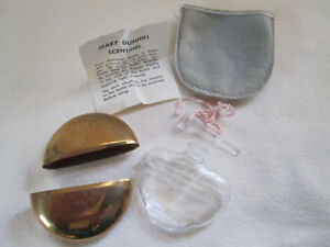 Mary Dunhill Scentinal Brass Glass Perfume Ground Dauber 1930s