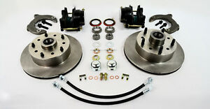 Mustang Ii Front Disc Brake Conversion Kit 11 Plain Rotors Black Calipers New