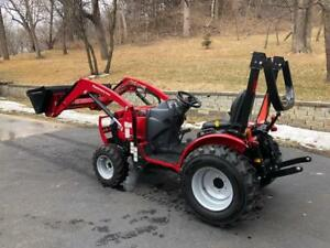 2017 Mahindra Max 26 With Loader And Finsh Deck And Tiller